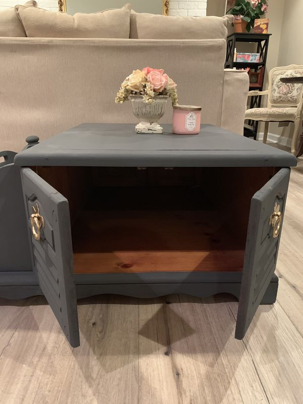 Shabby Chic Farmhouse Style Black Coffee Table
