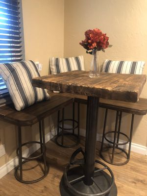 Rustic bar height kitchen table and bench seat for Sale in Whittier, CA