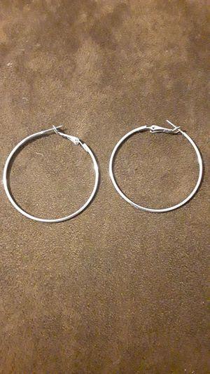 Silver Hoop Earrings for Sale in Cambridge, MA