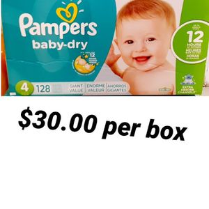 Pampers Baby Dry Size 4 for Sale in Los Angeles, CA
