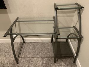 Computer Desk - Metal & Glass for Sale in Ripon, CA