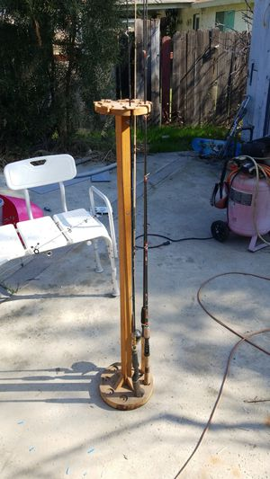 Handmade fishing pole rack, holds up to eight rods for Sale in Moreno Valley, CA
