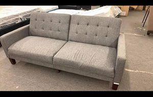 Porter Sofa Futon Gray Linen Retails $350 Clearance price$245 TM (Scratch n Dent) Autumn Sale! for Sale in Houston, TX