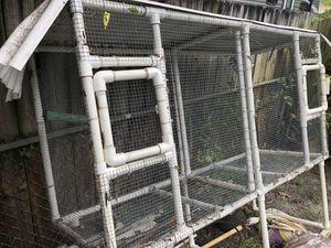 Double pvc bird cage for Sale in North Miami Beach, FL
