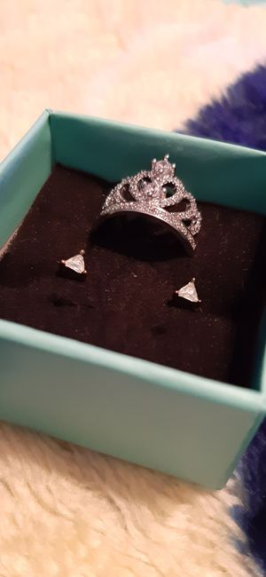 Pretty CZ Diamond Princess Ring Earring Set for Sale in Irving, TX
