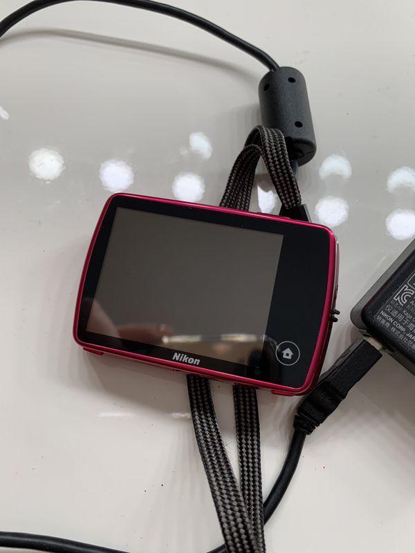 Pink Nikon Coolpix S01 10.1 MP Digital Camera with 3x Zoom NIKKOR Lens