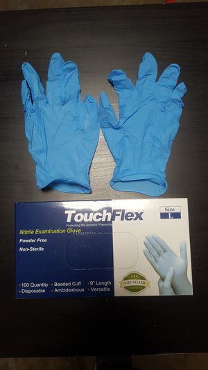 3 BOXES 🚨 Blue Nitrile Gloves | No Powder | Small Medium Large X-Large for Sale in Lynwood, CA