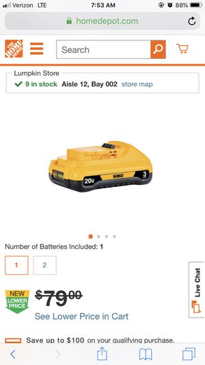 Dewalt battery for Sale in Houston, TX