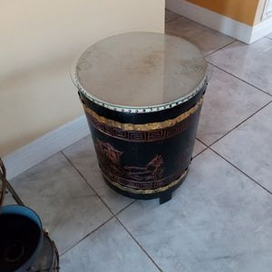 Antique Vintage Drum Table And Real Drum for Sale in Miami, FL