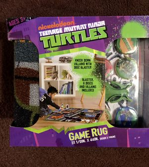 Ninja turtles game rug for Sale in Los Angeles, CA
