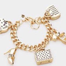 High Fashion Gold Charm Bracelet for Sale in Miami, FL