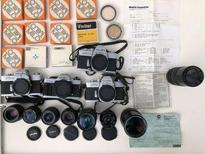 Minolta film cameras lens filters not medium format for Sale in Boston, MA
