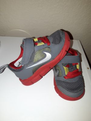Grey and red Nike toddler boy shoes size 6c for Sale in Kent, WA