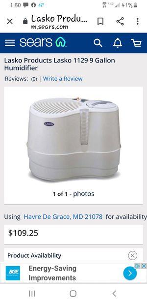 Lasko 1129 9 gallon large capacity humidifier for Sale in HVRE DE GRACE, MD