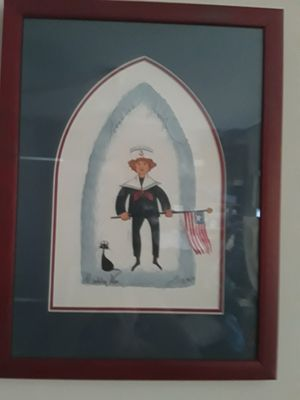 "P BUCKLEY MOSS ""ANCHORS AWEIGH"" BOY SIGNED FRAMED PRINT for Sale for sale  Pompano Beach, FL"