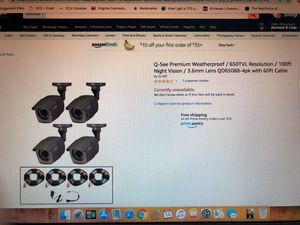 Q-See premium security cameras (8) BRAND NEW. No system only cameras for Sale in Culpeper, VA