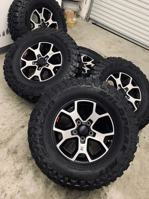 "17"" Jeep Wrangler Rubicon Wheels Rims Falken Tires for Sale in Downey, CA"