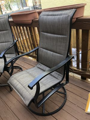 Tall outdoor swivel rocking chairs new for Sale in Washington, DC