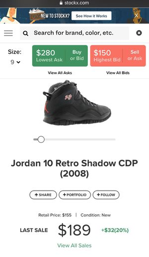 2008 Jordan 10 size 9 for Sale in Paramount, CA