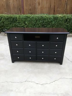 Solid wood black cabinet for Sale in Fresno, CA
