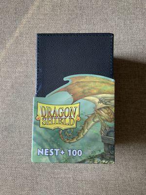 Pokemon Card Holder Deck Box Dragon Shield Arcane Tinmen Nest 100+ Deckbox w/ Dice Tray Black/Light Grey OBO for Sale in Garden Grove, CA
