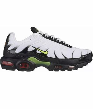 Nike Air Max Plus Men's 7.8 / Women's Size 9 White Volt Shoes AJ2013-100 New for Sale in Buckhannon, WV
