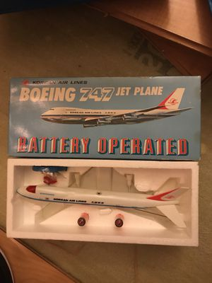 Boeing 747 batterie operated collectible toy korean airlines for Sale in West Los Angeles, CA