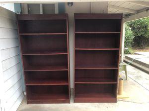 2 cherry wooden bookshelves for Sale in Carlsbad, CA