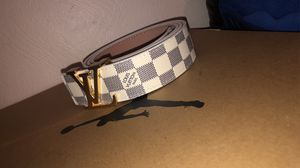 White Damier Louis Vuitton Belt LV for Sale in Pittsburgh, PA