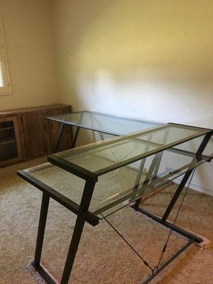 3 piece glass desk for Sale in Largo, FL