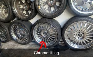 """4 GFG 20"""" chrome rims with tires for Sale in Oakland Park, FL"""
