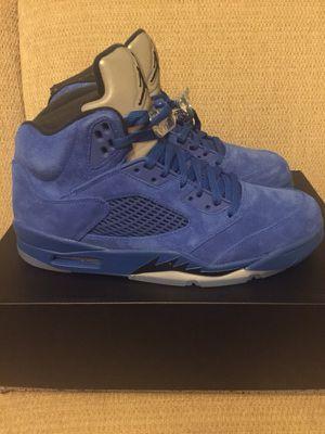 Jordan retro 5 blue suede sz 10.5 for Sale in Fairfax, VA