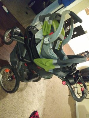 baby trend stroller green and grey Used for Sale in Lewisville, TX