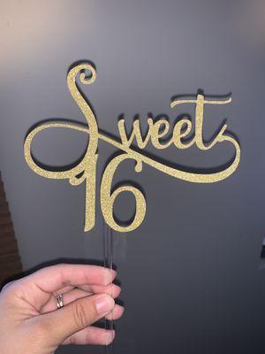 Sweet 16 cake topper for Sale in Rosemead, CA