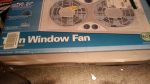 Holmes twin window fan with thermostat next for Sale in Baltimore, MD