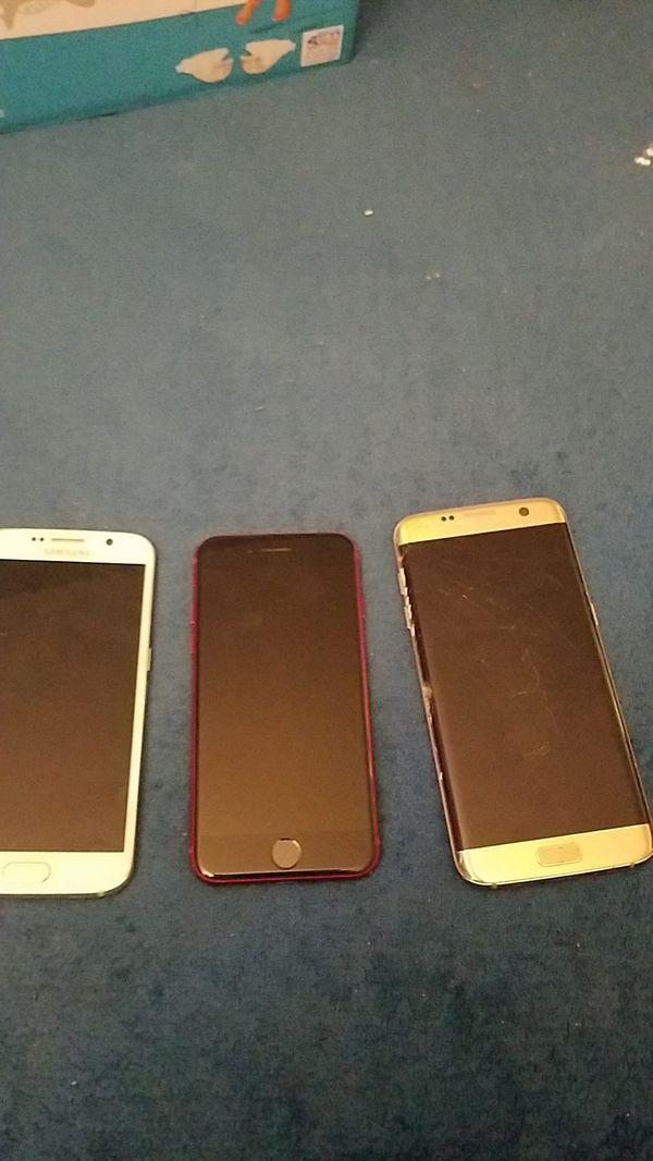 Samsung s7 edge galaxy s 6 sólo para repuesto iphone