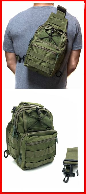 NEW! Small Compact Tactical military style side crossbody sling chest travel work bag gym hiking biking fishing backpack for Sale in Long Beach, CA