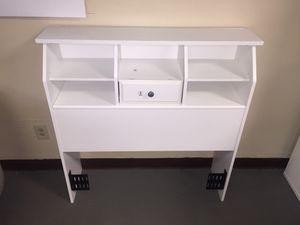 New Bookcase Headboard, Twin, Soft White Finish for Sale in Columbia, SC