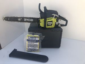 RYOBI 18 in. 38cc 2-Cycle Gas Chainsaw with Heavy Duty Case for Sale in Bakersfield, CA