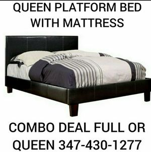 Queen bed with Mattress sale for Sale in Brooklyn, NY