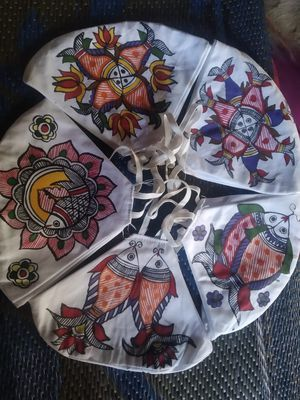 Face masks - Handpainted with Madhubani designs from India for Sale in Folsom, CA