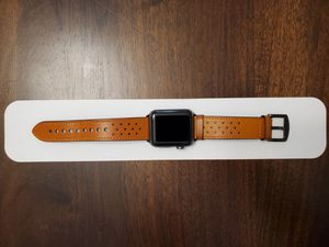 Apple Watch Series 3 42mm Aluminum Leather Band for Sale in Hialeah, FL