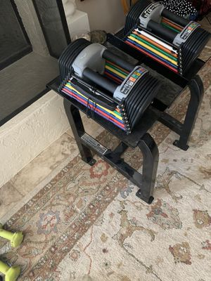 Powerblock adjustable weights with stand for Sale in Phoenix, AZ