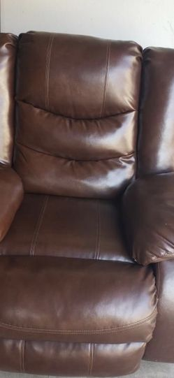Faux Leather Recliner (brown) for Sale in Ontario,  CA