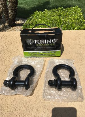 """""""D"""" ring shackles, Rhino. for Sale in Rancho Cucamonga, CA"""