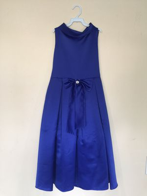 New Royal Blue Flower Girls Party Dress Size 12 for Sale in Hacienda Heights, CA