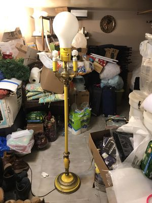 Yellow antique lamp for Sale in Milton, MA