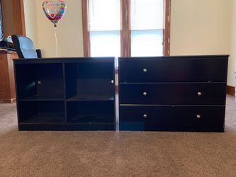 Wooden dresser and cube for Sale in Davenport,  IA