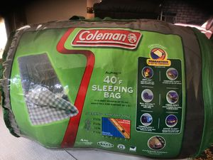 COLEMAN. . . 40Degree F . . . SLEEPING BAG . . . TALL Adult size. . . $75.00! for Sale in Bellerose, NY