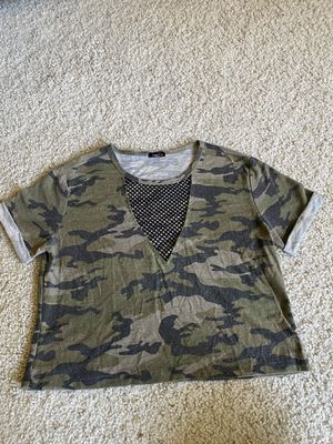 Camo Print Crop Top w/ Mesh Detailing for Sale in San Diego, CA